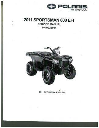 2011 Polaris Sportsman 550 Atv Service Manual