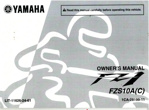 2011 yamaha fz 1 motorcycle owners manual rh repairmanual com yamaha fzs owners manual pdf yamaha fz 09 owners manual pdf
