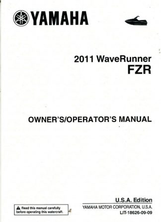 Official 2011 Yamaha FZR GX1800-K Owners Manual