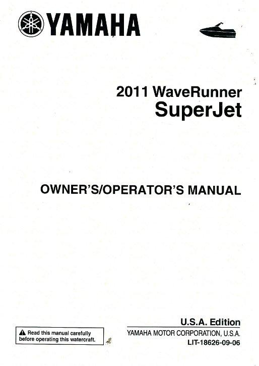 Yamaha Superjet Manual