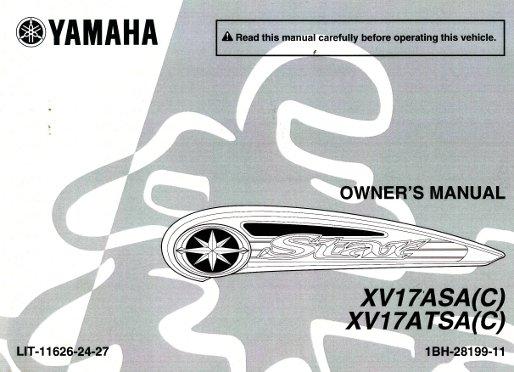 2011 yamaha xv17a road star motorcycle owners manual rh repairmanual com 1999 yamaha road star owners manual yamaha road star 1700 owners manual