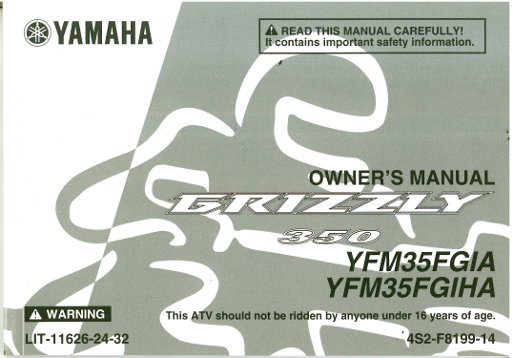 yamaha grizzly 450 owners manual