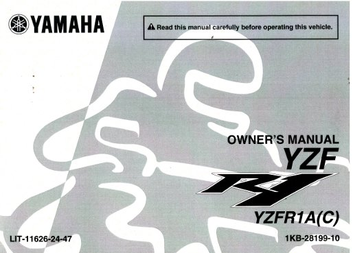 2011 yamaha yzf r1 yzfr1000 motorcycle owners manual rh repairmanual com Yamaha R1 Motorcycles Yamaha R1 Motorcycles