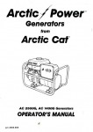 Official Arctic Cat 1400G 2500G Generator Owners Manual