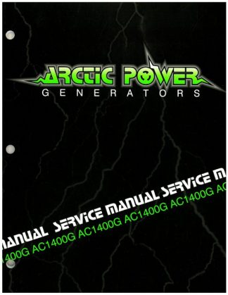 Official Arctic Cat 1400G Generator Shop Manual