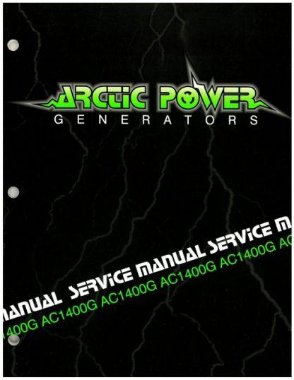 Official Arctic Cat 1400G Generator Shop Manual