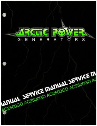Official Arctic Cat 2500GD Generator Shop Manual