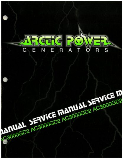 Official Arctic Cat 3000GD2 Generator Shop Manual