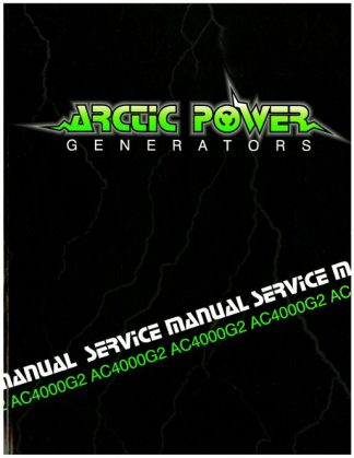 Official Arctic Cat 4000G2 Generator Shop Manual