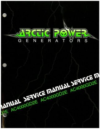 Official Arctic Cat 4000GD2E Generator Shop Manual