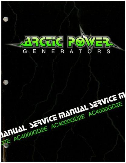 Official Arctic Cat 4000GD2E Generator Shop Manual
