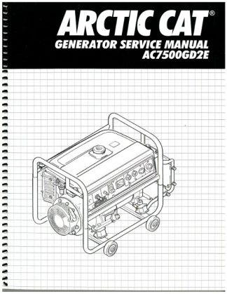 Official Arctic Cat AC7500GD2E Generator Shop Manual
