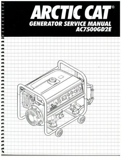 Official Arctic Cat AC7500GD2E Generator Shop Manual