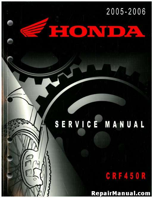 honda 2005 2006 crf450r motorcycle service manual rh repairmanual com 2004 CRF450R 2005 crf450r owner's manual