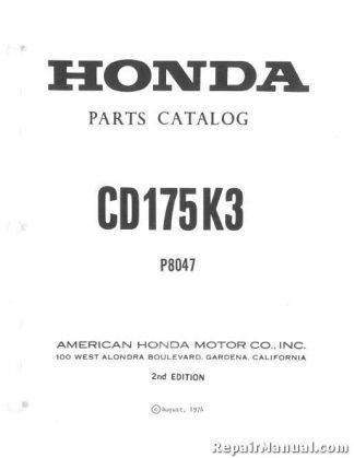19821984    Suzuki    PE175 Motorcycle Owners Maintenance Manual
