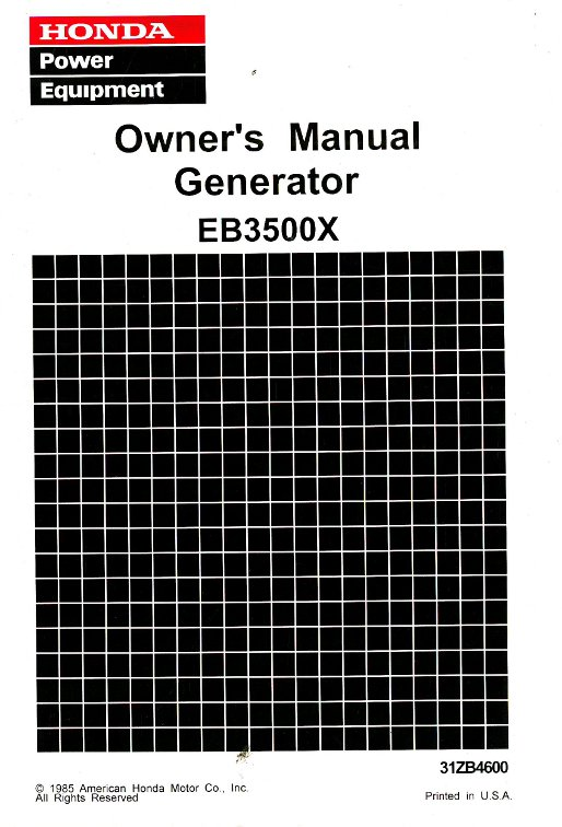 honda eb3500x generator serial range eb3500x ea6 3000001 to ea6 rh repairmanual com Honda EM3500SX Generator Information Honda EM 3500 SX Generator