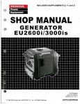 Official Honda EU2600I And EU3000IS Generator Shop Manual