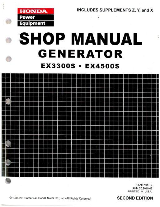 honda ex3300s and ex4500s generator shop manual rh repairmanual com Onan Microquiet 4000 Repair Manual 7FGU45 Repair Manual