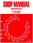 Official Honda F200 Tiller Shop Manual