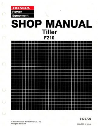 Official Honda F210 Tiller Shop Manual