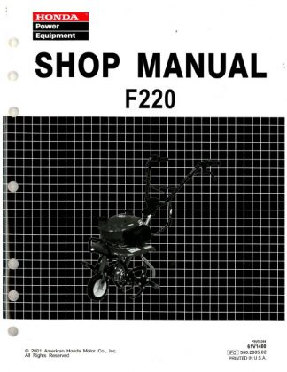 Official Honda F220 Tiller Shop Manual