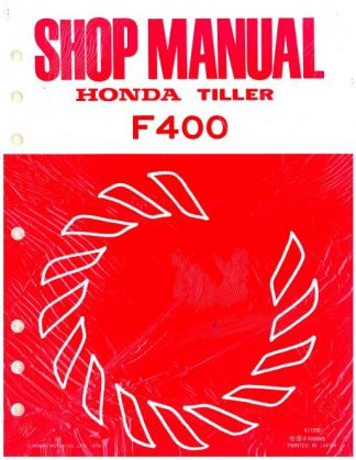 Official Honda F400 Tiller Shop Manual