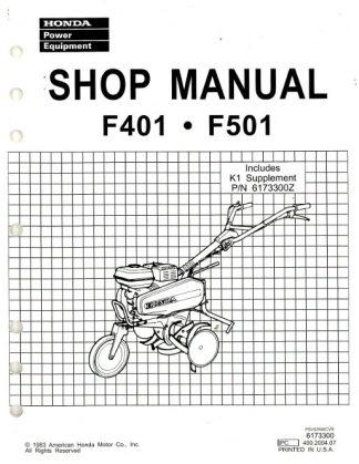 Official Honda F401 And F501 Tiller Shop Manual