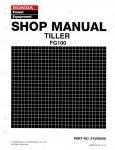 Official Honda FG100 Tiller Shop Manual