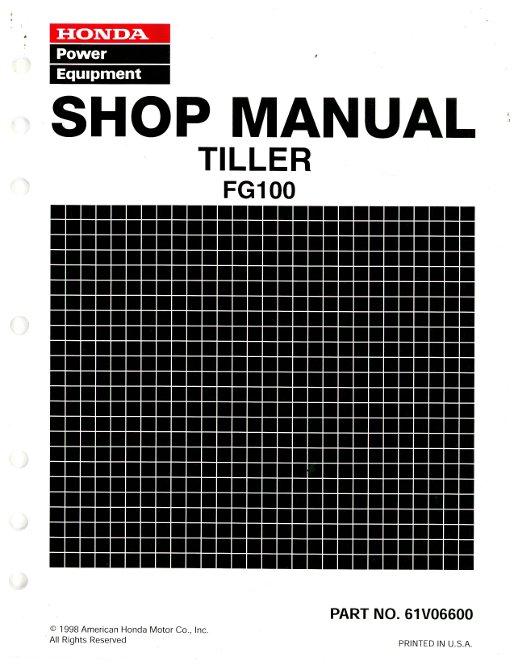 honda fg100 tiller shop manual rh repairmanual com honda tiller fg100 repair manual honda fg100 tiller transmission parts