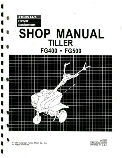 Official Honda FG400 And FG500 Tiller Shop Manual