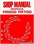Honda FR500 FR700 FR700AS Rotary Tiller Shop Manual