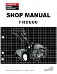 Official Honda FRC800 Tiller Shop Manual
