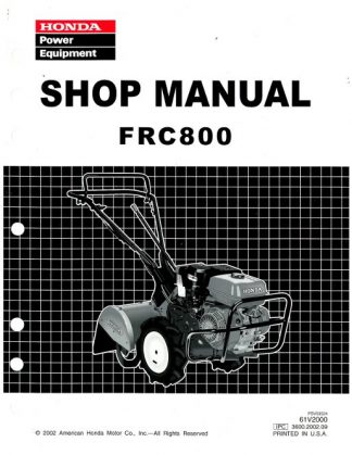 Official Honda FRC800 Tiller Shop Manual