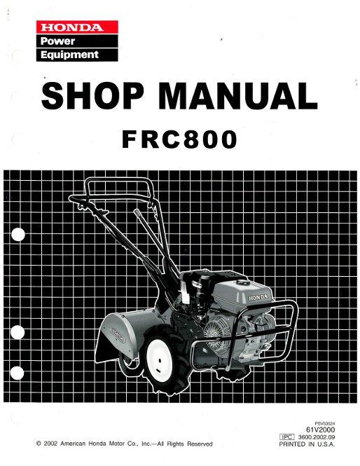 Honda Frc800 Tiller Shop Manual