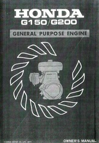 Official Honda G150 G200 Engine Owners Manual