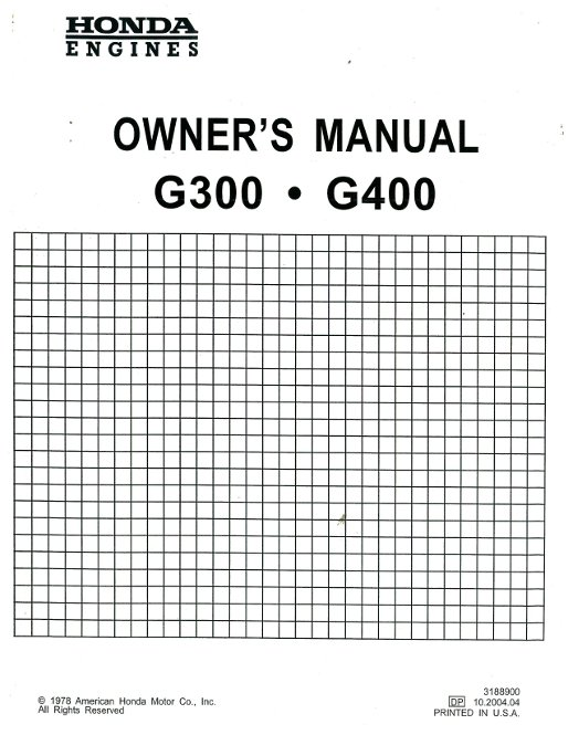 Honda gx610 gx620 k0 engine service repair shop manual | honda.