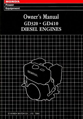 Official Honda GD320 GD410 Engine Owners Manual