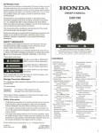 Official Honda GSV190 Engine Owners Manual