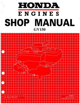 Official Honda GV150 Engine Factory Shop Manual