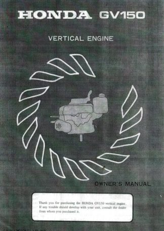 Official Honda GV150 Engine Owners Manual
