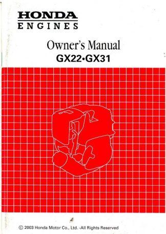 Official Honda GX22 GX3 Engine Owners Manual