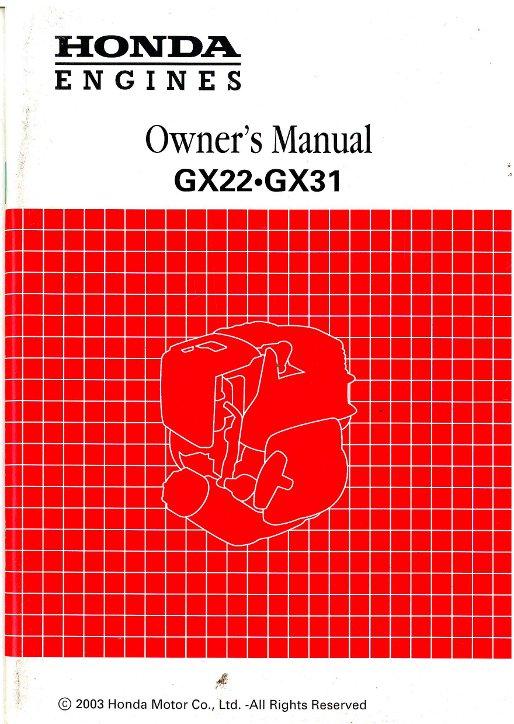 honda gx22 gx3 engine owners manual rh repairmanual com Manual Book Parts Manual