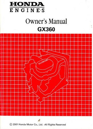 Official Honda GX360 Engine Owners Manual