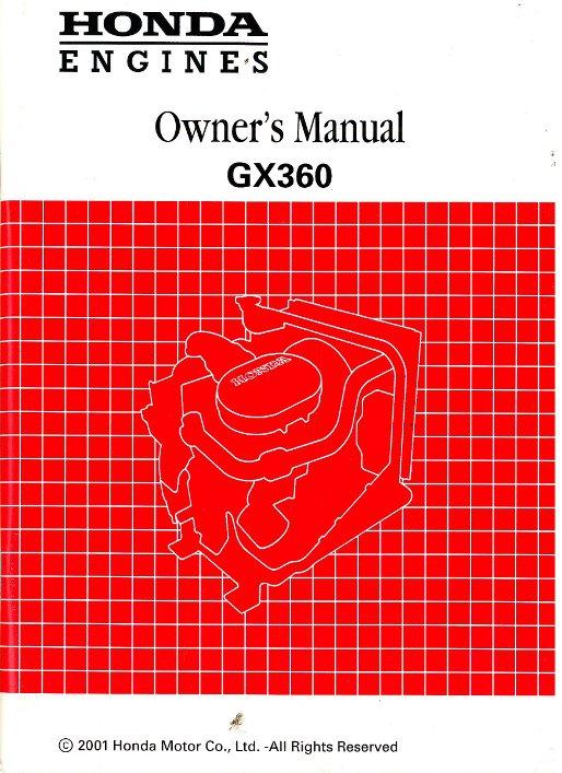 honda gx360 engine owners manual rh repairmanual com