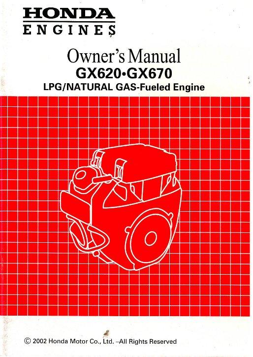 honda gx620 and gx670 dual fuel engine owners manual rh repairmanual com