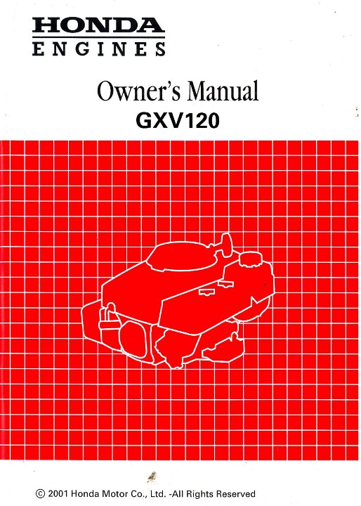 honda gxv120 engine owners manual rh repairmanual com honda gxv120 service manual Honda Gxv530