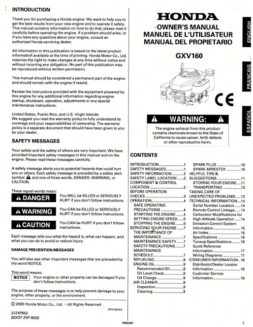 honda gxv160 engine owners manual rh repairmanual com GXV160 Honda Shop Manuals Auger Honda GXV160