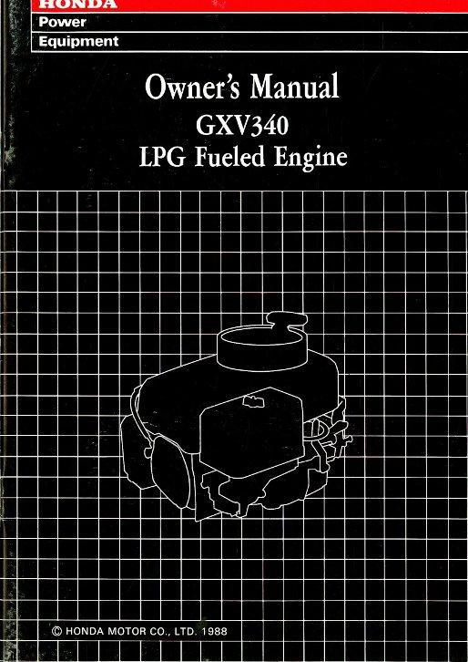 honda gxv propane fueled engine owners manual