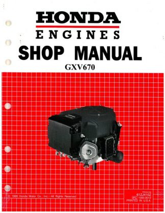 Official Honda GXV670 Engine Shop Manual