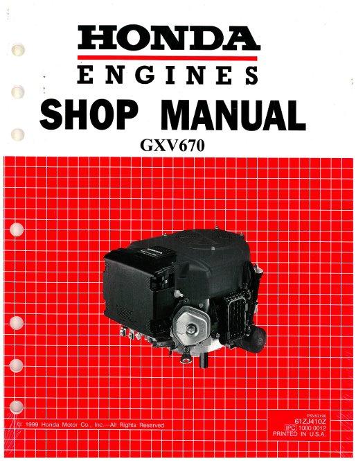 honda gxv670 engine shop manual rh repairmanual com